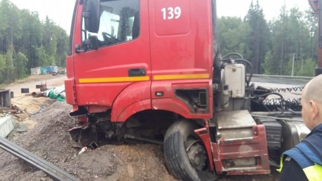 ВАЗ столкнулся с грузовиком MAN.